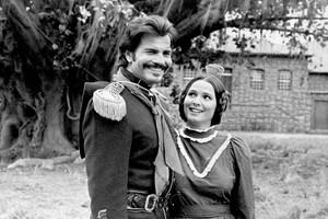 Capitão Rodrigo Cambará (Tarcísio Meira) e Bibiana Terra Cambará (Louise Cardoso) (Foto: tv globo)