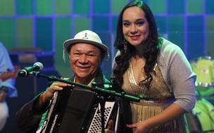 Dominguinhos e sua filha (Foto: CEDOC/ TV GLOBO)