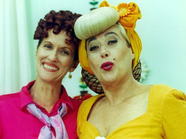 Violeta (Betina Viany) e Margarida (Marilu Bueno) (Foto: Arley Alves)
