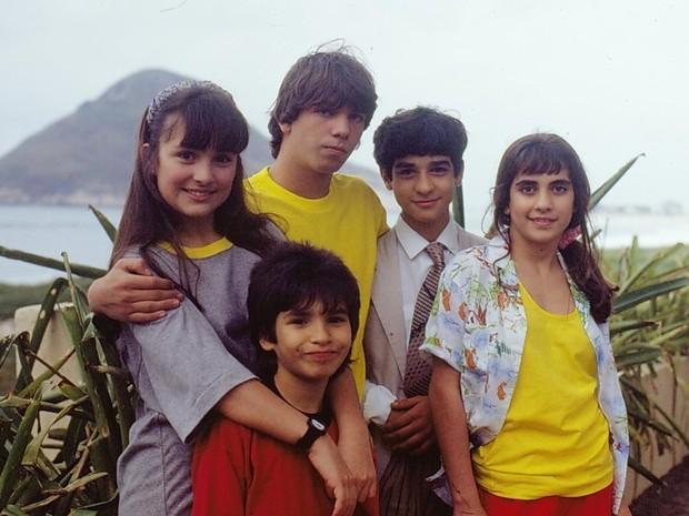 Igor Lage, Gabriela Duarte, Marcelo Faria, Henrique Farias e Carol Machado  (Foto: CEDOC/TV Globo)