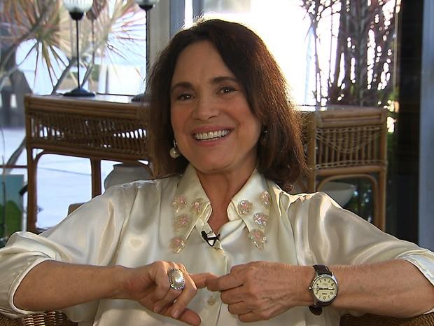 Regina Duarte em entrevista ao Reviva (Foto: Viva)