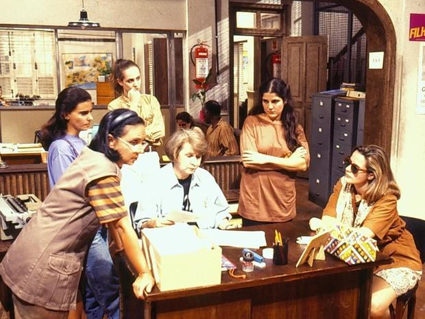 Cininha de Paula, Mayara Magri, Zilda Cardoso e Bia Seidl na srie 'Delegacia de Mulheres' (Foto: CEDOC/TV Globo)