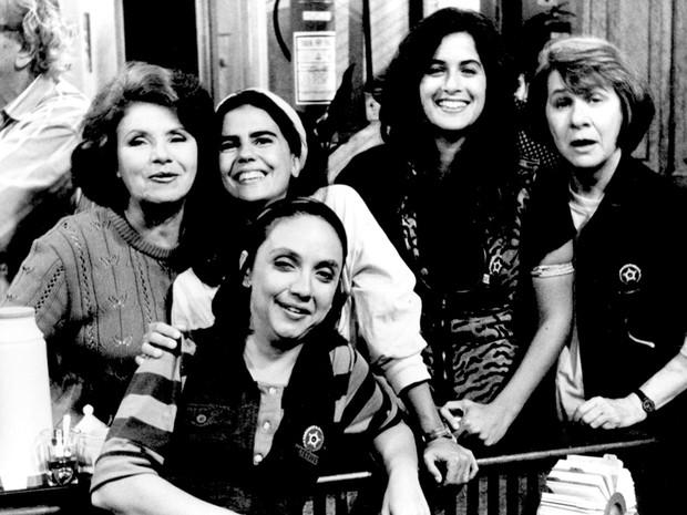 Eloisa Mafalda, Mayara Magri, Lucia Verssimo, Zilda Cardoso e Cininha de Paula (Foto: CEDOC/TV Globo)