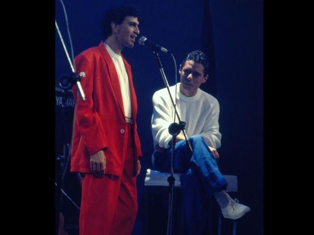 Caetano e Chico (Foto: CEDOC/ TV GLOBO)