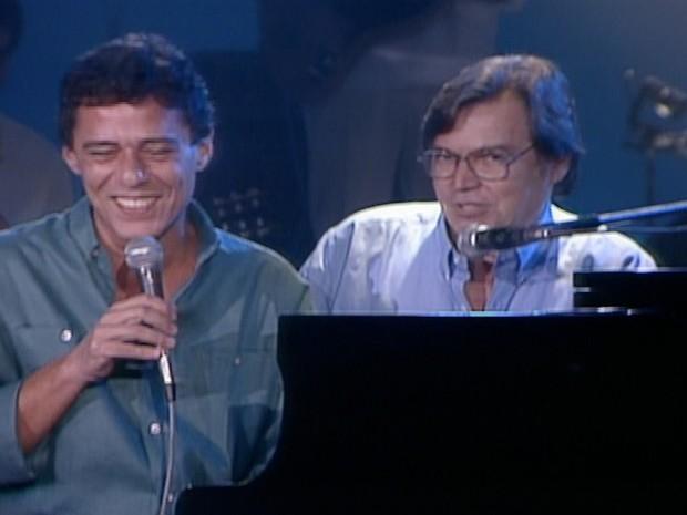 Chico Buarque e Tom Jobim em