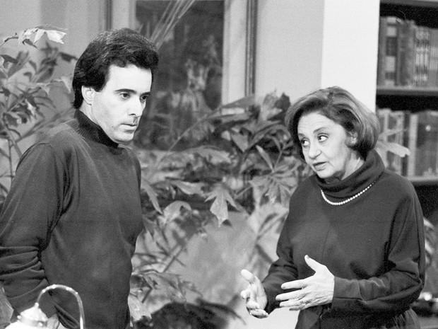 Álvaro (Tony Ramos) e Cândida (Laura Cardoso)  (Foto: CEDOC/TV Globo)