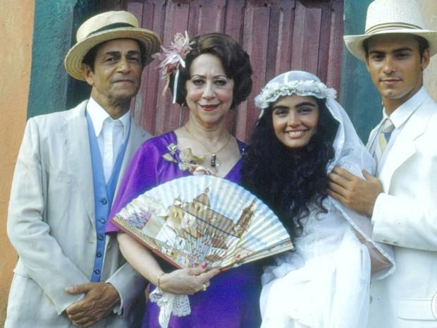 Nelson Xavier e Patrcia Frana (Foto: CEDOC/ TV GLOBO)