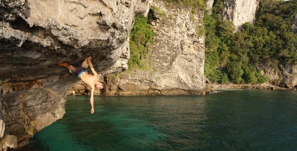 Deep Water Soloing Em Tonsai, Tailândia