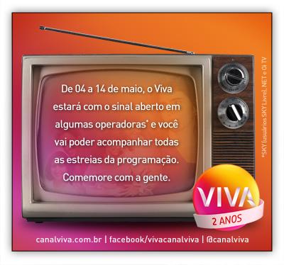 Sinal aberto canal viva (Foto: canal Viva)