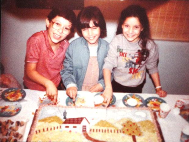 Luciano, Patricia e um amigo (Foto: arquivo pessoal)