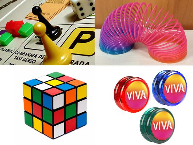 Jogos de tabuleiros, molas coloridas, cubo mágico e iô-iôs vão animar a galera (Foto: Divulgação)