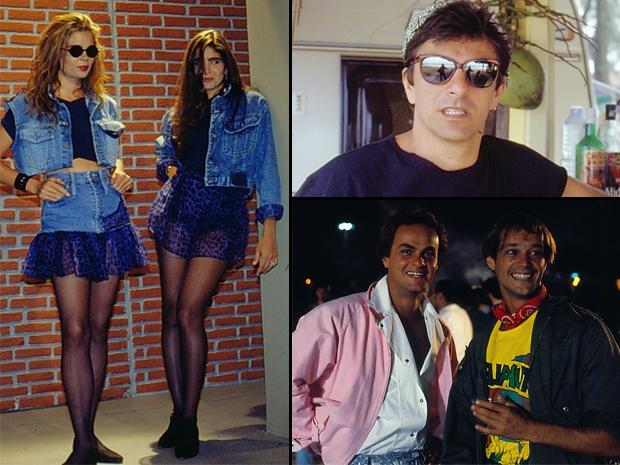 Jeans, cabelos ao vento, bandanas, blusões bem abertos e óculos escuros  (Foto: CEDOC/ TV GLOBO)