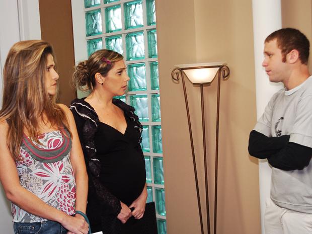 Pit (Ingrid Guimares), Belinha (Helosa Periss) e Darcizinho (Srgio Hondjakoff) (Foto: CEDOC/ TV GLOBO)