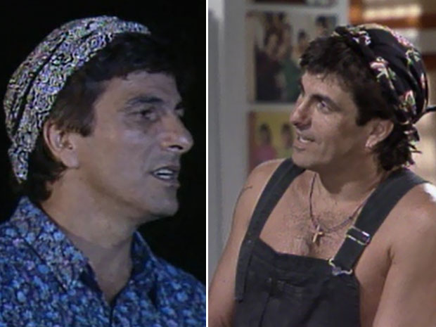 Evandro Mesquita foi a sensação de 'Top Model' com suas bandanas estilizadas (Foto: CEDOC/ TV GLOBO)