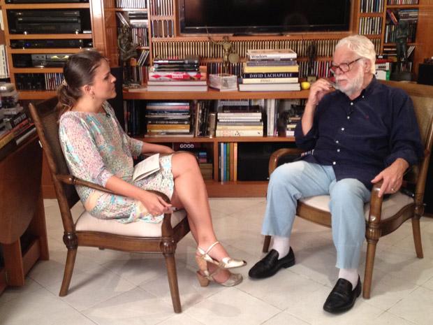 Manoel Carlos conversa com o 'Reviva' (Foto: Viva)