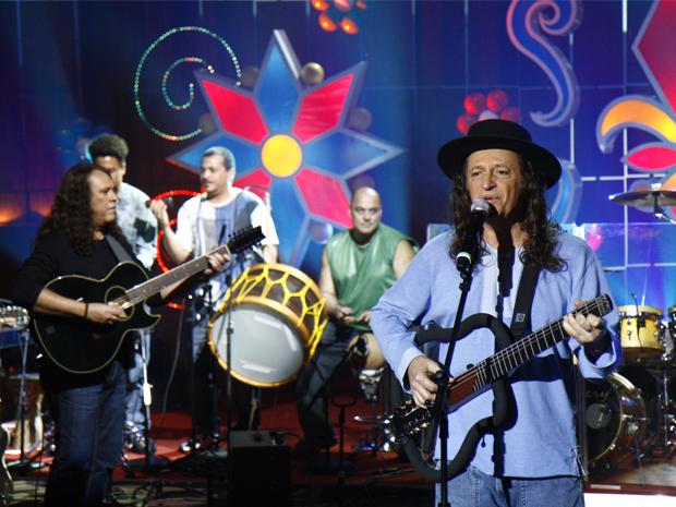 Alceu Valença é homenageado no 'Som Brasil' (Foto: Rafael França / TV Globo)