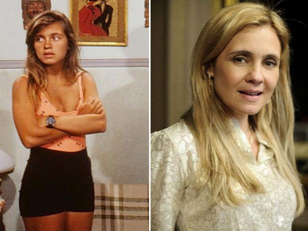 Adriana Esteves como Tininha, em 'Top Model', e Carminha, em 'Avenida Brasil' (Foto: Alex Carvalho / TV Globo)