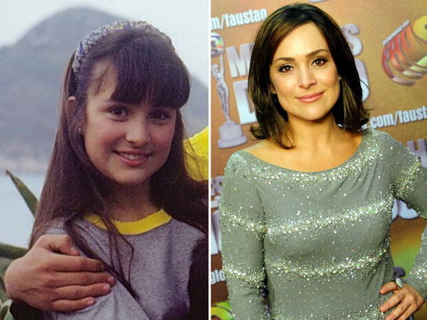 Gabriela Duarte como a adolescente Olívia em 'Top Model' e hoje.  (Foto: Márcio Antunes / TV Globo)