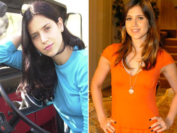 Mel Lisboa em 'Presena de Anita' e em uma produo recente.  (Foto: TV Globo / Mrcio de Souza)