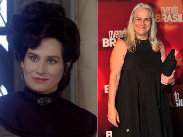 Vera Holtz como Fanny, em 'Que Rei Sou Eu?', e atualmente. (Foto: Joo Miguel Jnior / TV Globo)