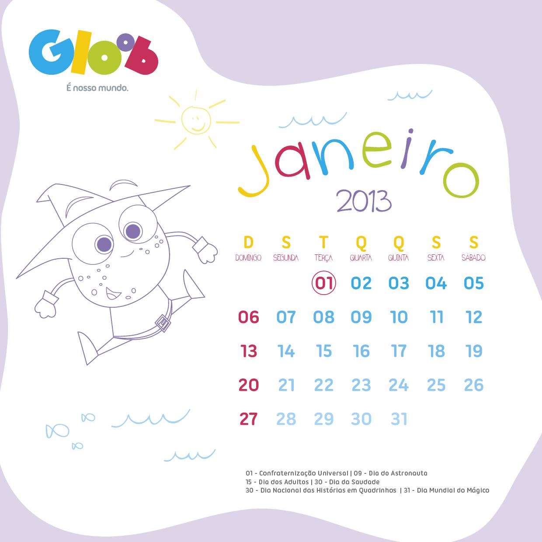 11 48 calendario 2013 um calendario fofo para voce imprimir e estar ...