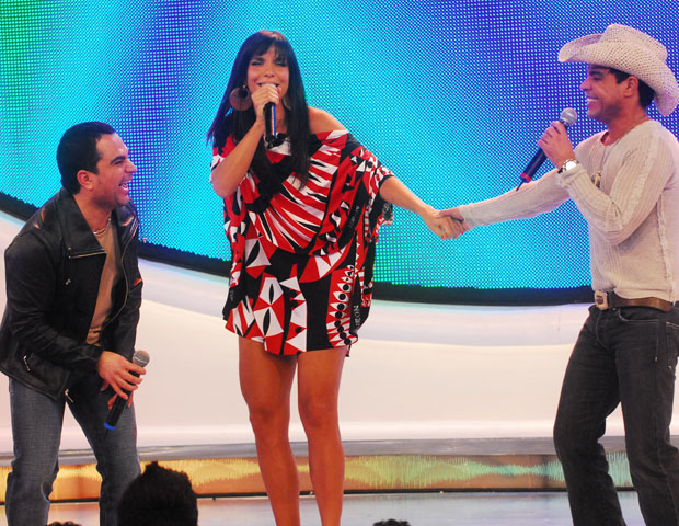 Luciano, Ivete e Zez (Foto: CEDOC/TV Globo)