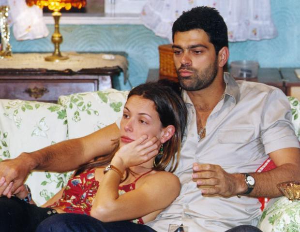 Carolina Ferraz e Edu Moscovis contracenam juntos mais uma vez (Foto: CEDOC/TV Globo)