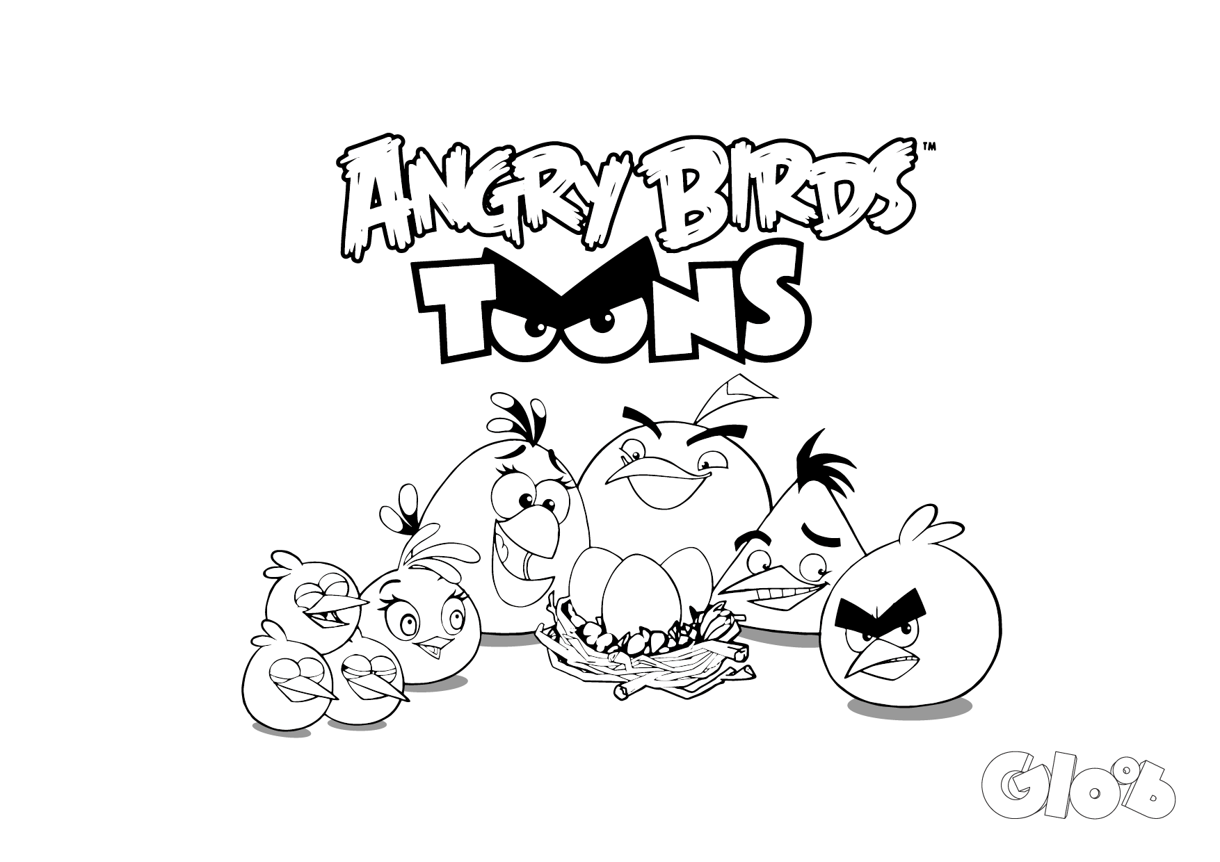 Coloring Pages Of Angry Birds Go Bird Chuck