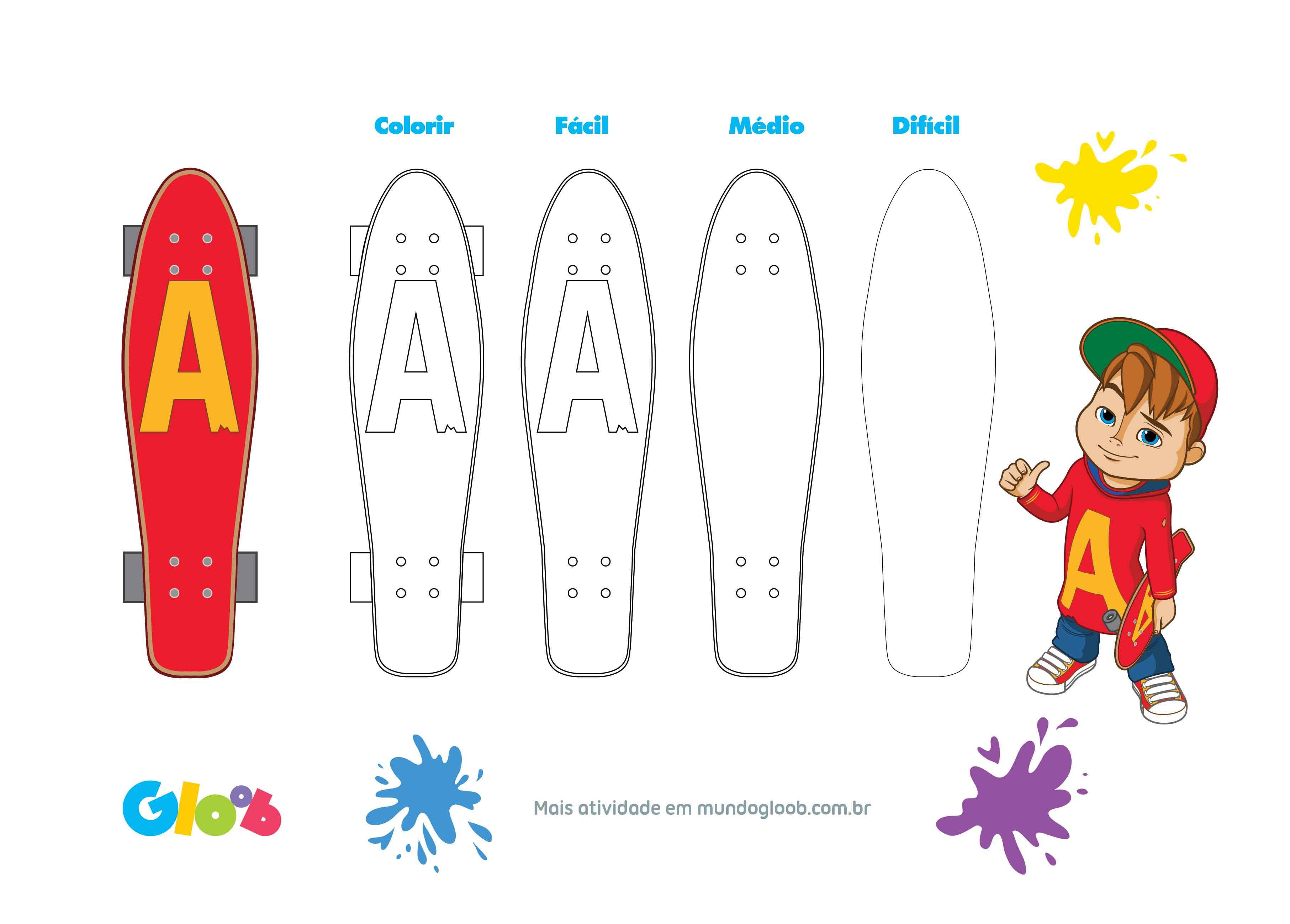 [Para Desenhar] Skate Do Alvin