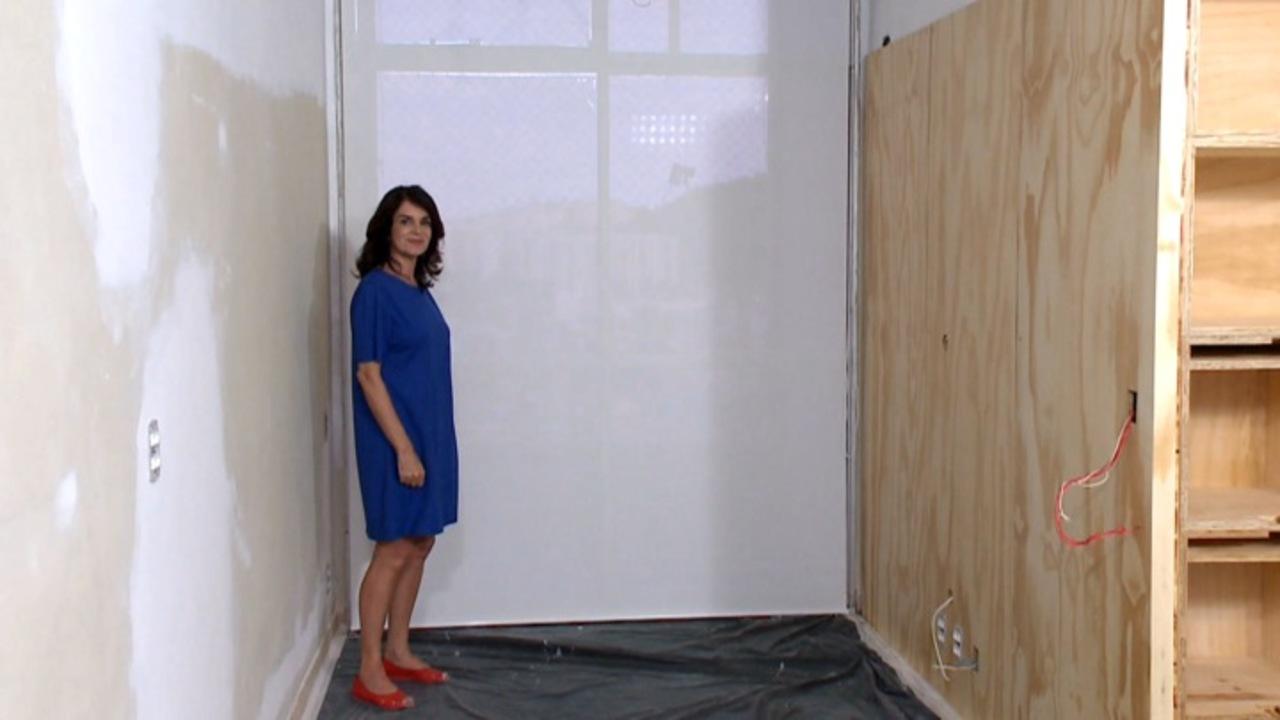 Dica de cortina em rolo decora programas gnt for Pared de ladrillos falsa