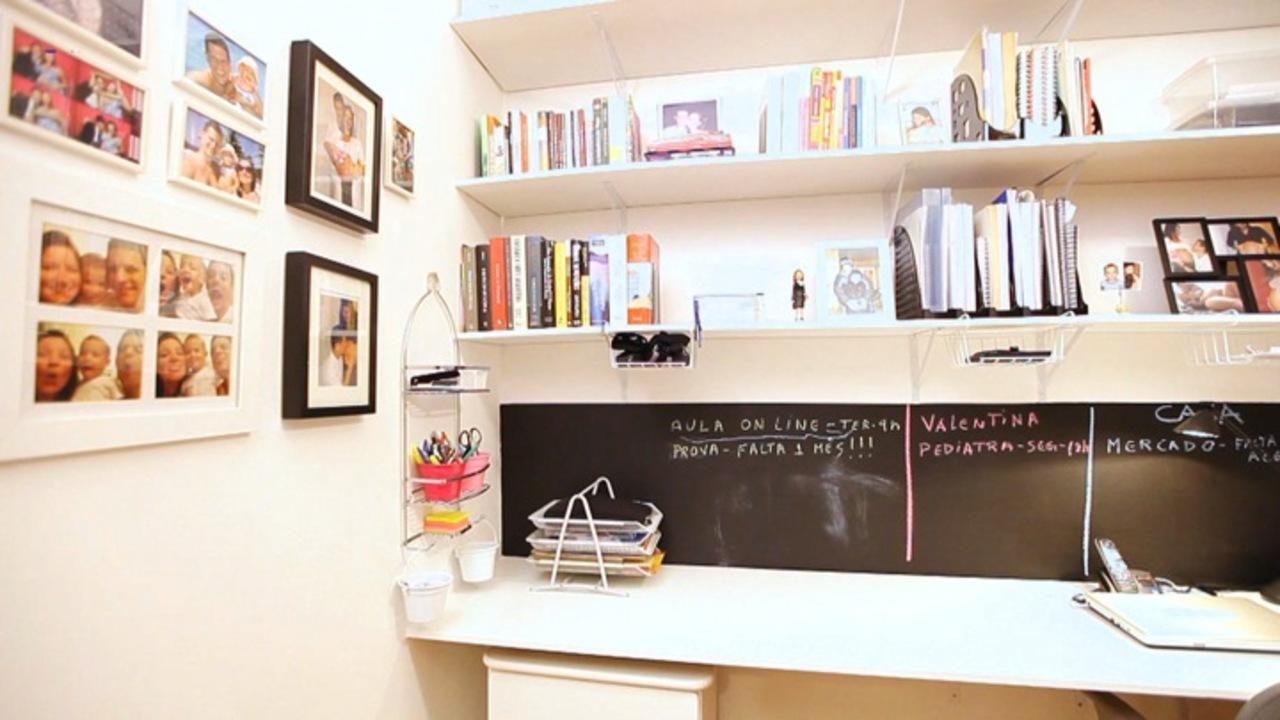 Antes e depois do home office santa ajuda programas gnt - Como organizar un armario pequeno ...