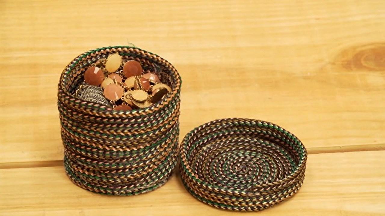 Objetos decorativos feitos com corda oficina da thalita for Objetos decorativos para oficina