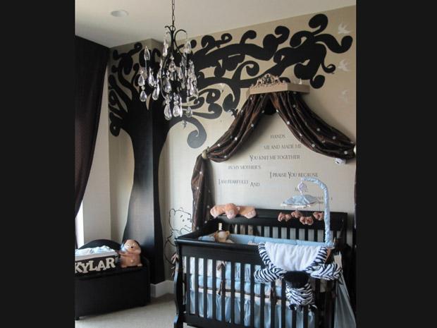 decoracao alternativa de quarto infantil:Quarto de bebê: decoração em tons fortes segue tendência – Mães