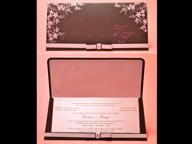 decoracao casamento rosa e marrom:Casamento em rosa e marrom: dupla compõe diferentes estilos de