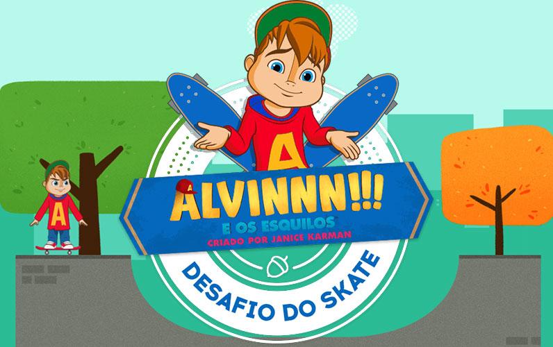 Jogo Alvin e o Desafio do Skate Online Gratis