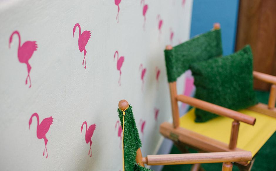 Estencil Flamingo Veja Como Reproduzir A Estampa Na Parede Da Sua