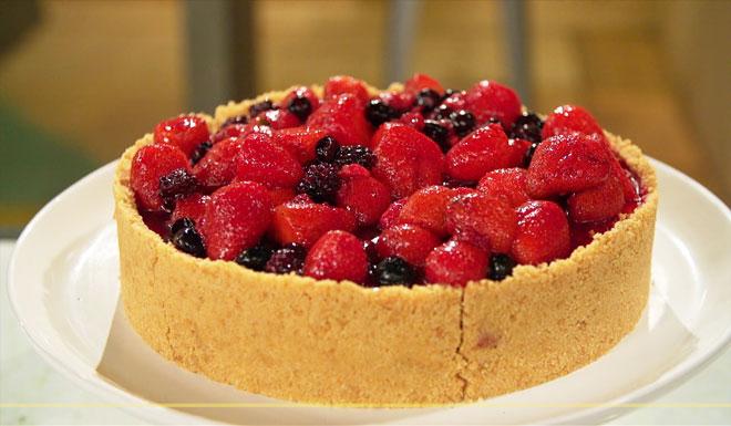 Resultado de imagem para Cheesecake com frutas vermelhas gnt